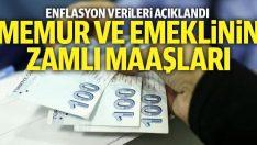Memur ve Emeklilere Enflasyon gereği  %10,70 zam