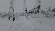 Adana Tufanbeyli'de Kar Kalınlığı 1,5 Metre