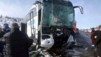 Ankara'da otobüs tıra çarptı: 1 ölü 8 yaralı