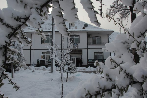 Beypazarı konaklarında kar manzarası