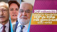 CHP, HDP ile ittifakı milli görev sayıyor