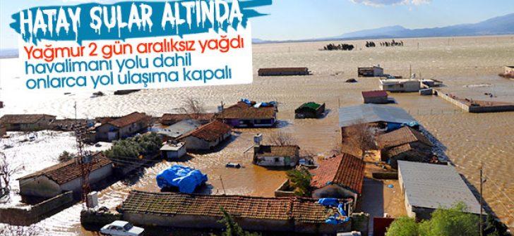 Hatay'da evler sular altında kaldı