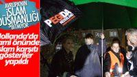 Hollanda'da cami önünde İslam karşıtı gösteri