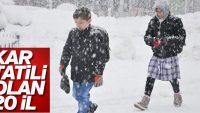 Kar nedeniyle eğitime ara veren iller