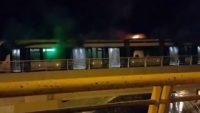 Klima motoru tramvay vagonunda yangına neden oldu