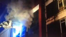 Ankara'da mobilyacılar sitesinde mobilya fabrikasında yangın