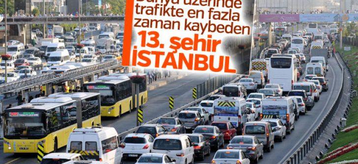 Trafikte en fazla vakit geçirilen 13. şehir: İstanbul