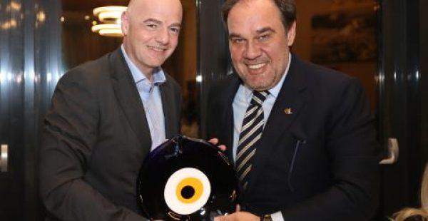 Infantino'dan Başkan Demirören'e Ziyaret