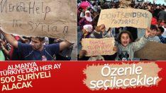 Almanya 6 bin Suriyeli sığınmacıyı kabul edecek