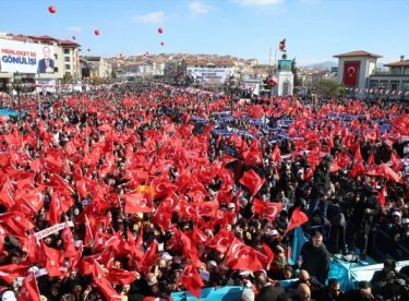 Ankara'da Recep Tayyip Erdoğan coşkusu