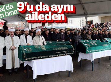 Kartal'daki binada ölen Alemdar ailesine veda