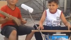 Kendi imkanlarıyla enstrüman yapan çocuktan Emirdağ Türküsü