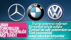 Merkel'den ABD'ye: Otomobillerimizle gurur duyuyoruz