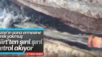 Siirt'te bulunan petrol görüntülendi