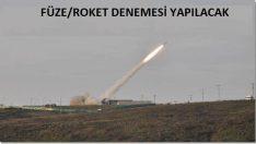Doğu Karadeniz'de Roket ve Füze Atışı Yapılacak
