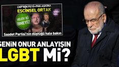Temel Karamollaoğlu'nun onur anlayışı LGBTİ mi?