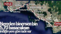 Halkalı-Gebze Banliyö Hattı'nın bilet tarifesi belli oldu