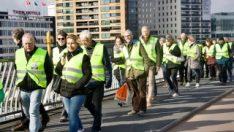 Hollanda'da Sarı Yelekliler'den eylem