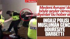 İngiliz polisinden siyahi gence şiddet