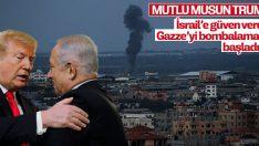 İsrail Gazze'yi bombalıyor