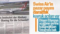 İsviçreli gazete düşen uçak yerine THY fotoğrafı kullandı