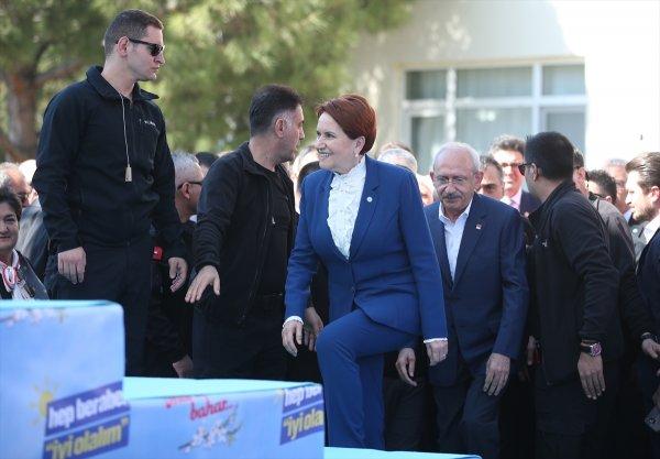 Meral Akşener ile Kemal Kılıçdaroğlu ortak miting yaptı