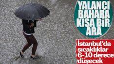 Meteoroloji İstanbul için yağış uyarısı yaptı