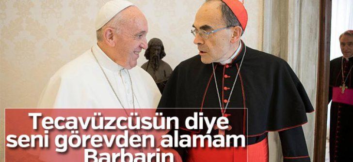 Papa tacizci kardinalin istifasını reddetti
