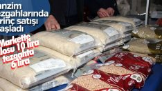 Pirincin tanzim satışta kilosu 6 lira