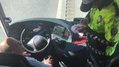 Şehirlerarası Otobüsler Sivil Trafik Personelleri Tarafından Denetlendi