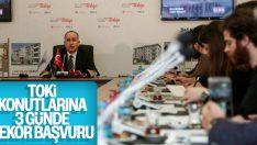 TOKİ Başkanı Bulut: Projeye 3 günde 10 bin kişi başvurdu