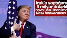Trump: Irak'ta uçağımın ışıklarını kapamak zorunda kaldım