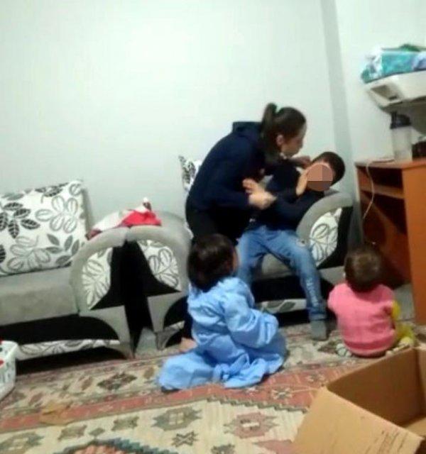 Üvey oğluna şiddet gösteren anne serbest