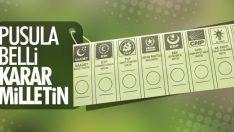 Yerel seçimde kullanılacak oy pusulası