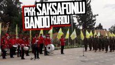 YPG'nin saksafonlu bando takımı