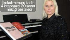Zonguldak'ta ilkokul mezunu kadının sanat başarısı