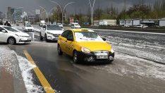 Ankara'da Sağanak Yağış ve Dolu Etkili Oldu