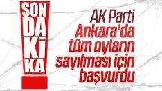 AK Parti Ankara'da oyların yeniden sayılmasını istedi