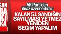 AK Parti seçimlere itirazlarla ilgili yeni açıklama yaptı