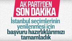 AK Parti seçimlerin yenilenmesi için başvuruyu hazırladı
