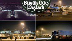 Atatürk Havalimanı'nda taşınma başladı