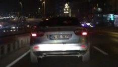 E-5'te terör estiren trafik magandası kamerada