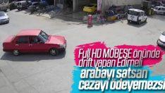 Edirne'de drift yapan sürücüye 5 bin lira ceza