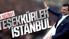 Ekrem İmamoğlu: Teşekkürler İstanbul