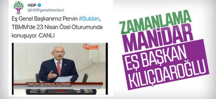 HDP, Buldan yerine Kılıçdaroğlu yayını verdi