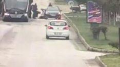 Malatya'da trambüsten inen öğrenciye otomobil çarptı