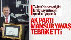Mansur Yavaş'a AK Parti'den tebrik mesajı